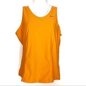Nike Fit Dry Orange V Neck Workout Tank Top